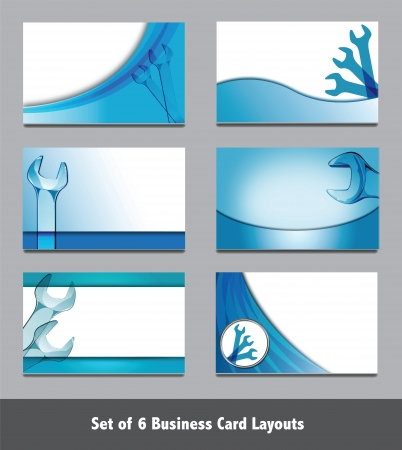 Spanner Business Card Templates   Simply add your own text  Vector