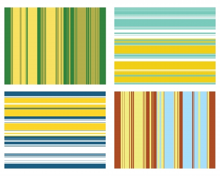Four  stripe pattern for textiles and scrap booking Vector