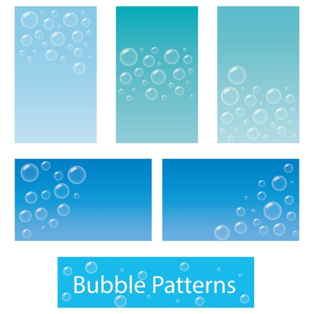 Five business card or background designs based on bubbles Stock Vector - 19196001