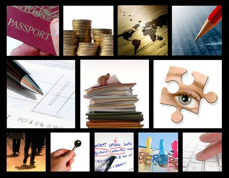 Collection of images based on various business activities. photo