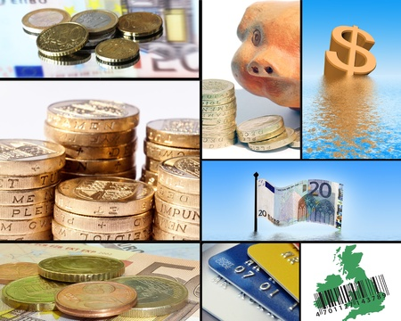 Collection of images based around the various currencies. photo