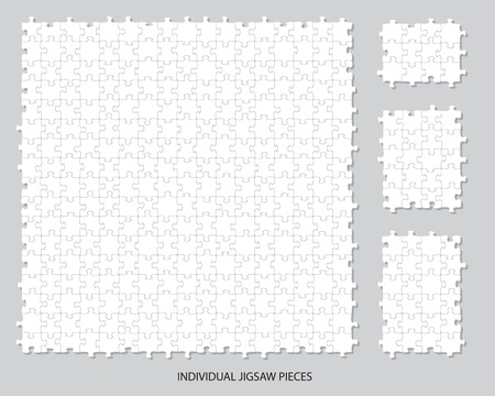 moved: Blank individual jigsaw pieces that can be moved, colored or filled to suit your own artwork