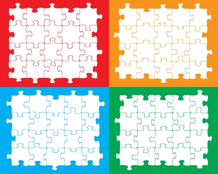 moved: Blank individual jigsaw pieces that can be moved, colored or filled to suit your own artwork.