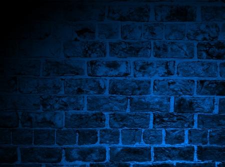 paredes de ladrillos: Ladrillo antiguo con añadido iluminación azul para el efecto