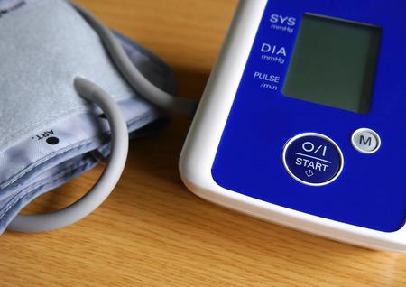 blood pressure monitor: Closeup of digital blood pressure monitor Stock Photo