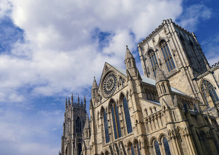 north yorkshire: View of the imposing Minster, City of York, North Yorkshire, UK.