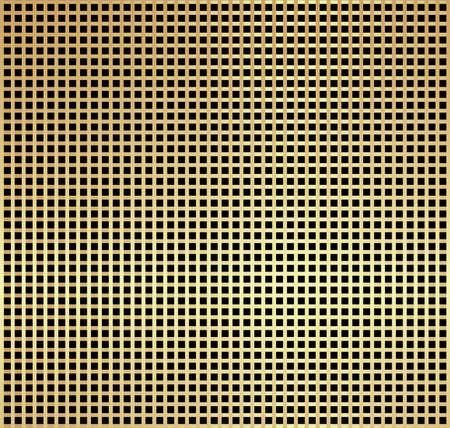 black metallic background: Metallic gold check pattern on black background Stock Photo