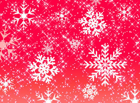 glimmer: Abstract star and snowflake pattern on red