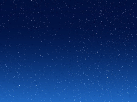 night sky stars: Illustration of night sky with simulated stars on blue background