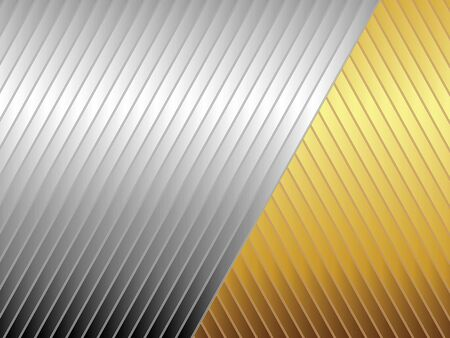 gold silver: Abstract illustration of silver and gold diagonal stripes for backgrounds and fills