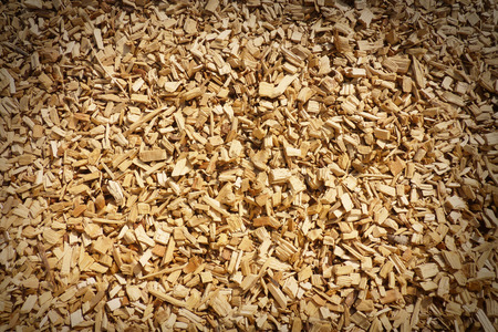 edges: Wood chippings with vignette edges for effect