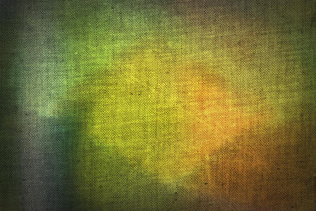 canvas: Yellow, green and brown pattern applied to canvas texture