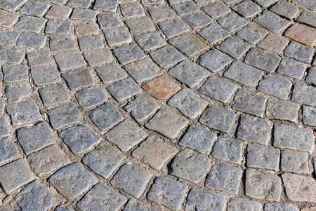 cobbled: Section of cobbled stones in circular pattern