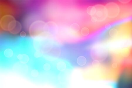 brightly: Brightly colored abstract with bokeh circles Stock Photo