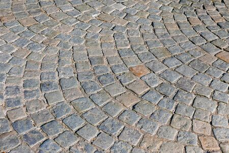 cobbled: Section of cobbled stones in pedestrian street