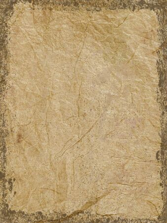 textured paper: Grunge edges added to brown textured paper Stock Photo