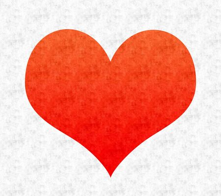 red shape: Red heart shape overlaid with gray texture Stock Photo