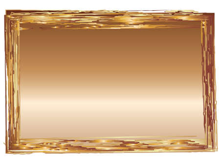 graduated: Bronze graduated effect applied to rectangular shape with grunge frame edges