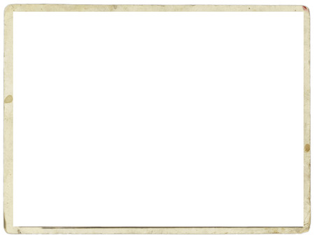 textured paper: Blank white sheet with old stained edges for a photograph