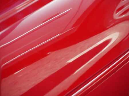 Closeup of modern car paintwork showing reflections Stock Photo