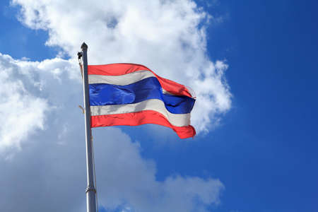 thailander: Sky Thai flag Stock Photo
