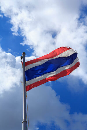 Sky Thai flag Stock Photo