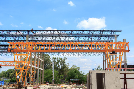 steelwork: Construction of the plant
