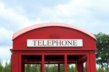 phone booth:   Red phone booth