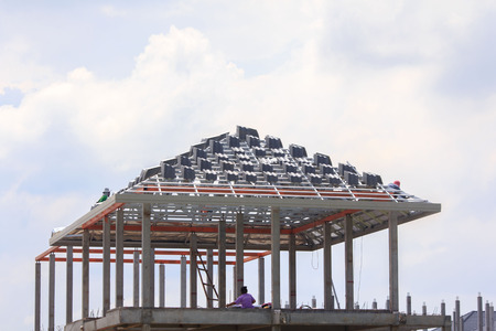 steelwork: New home construction