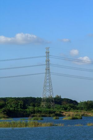 powerline: Electricity pylon