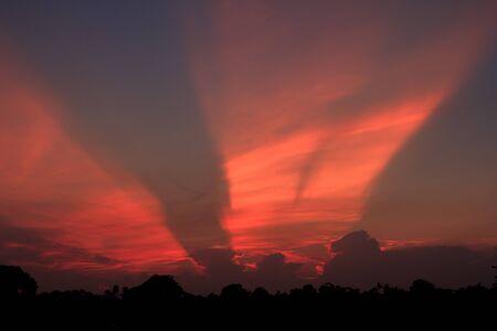 evening sky: The evening sky.