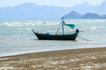sea fishing: Small fishing boats.