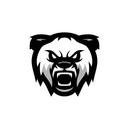 panda head roaring mascot icon vector illustration, suitable for the sports team mascot icon and e sports team Illustration