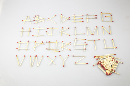 e u: Matchstick Letters A B C D E F G H I J K L M N O P Q R S T U V W X Y Z. A-Z Alphabet