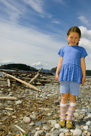 inocent: girl on beach Stock Photo