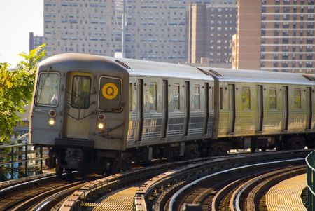 뉴욕시 지하철 열차 스톡 콘텐츠