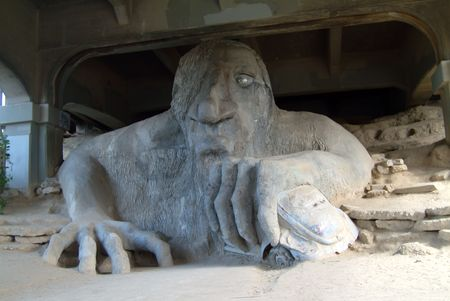 wa: fremont troll, seattle, wa, USA Stock Photo