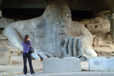 wa: fremont troll, seattle, Wa, USA