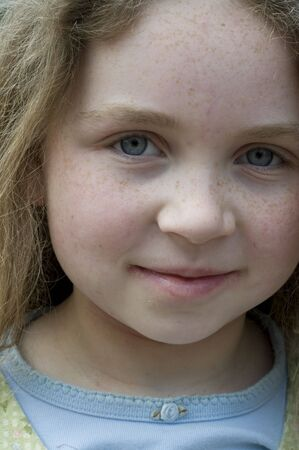 girl with freckles,