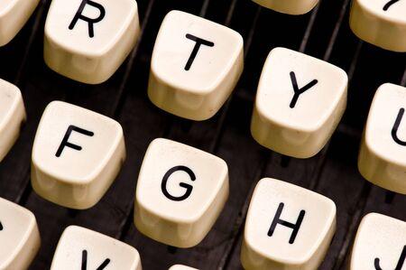 detail of typewriter Banco de Imagens