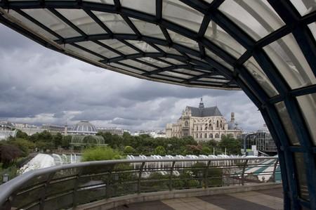 Les Halles and Saint Eustache.  Paris, France photo