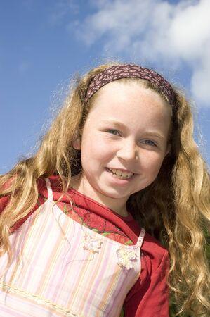 jong meisje lacht Stockfoto