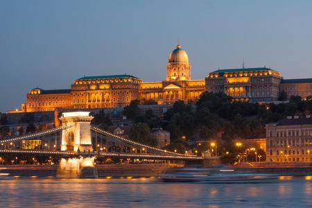 Budapest Chain Bridge, Royal Palace and Danube