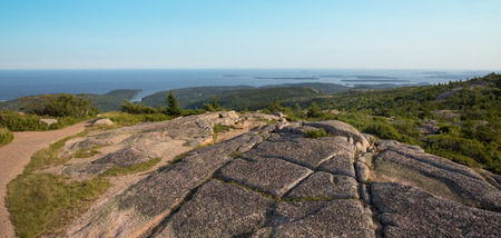 View from the summit of Cadillac Mountain, Acadia National Park, USA