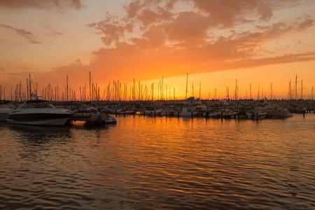 Sunset on the Marina of Ashkelon, Israel