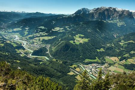 Burg Hohenwerfen and the Town of Werfen in Austria