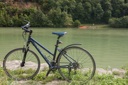 bicycle  near Danube river in Austria