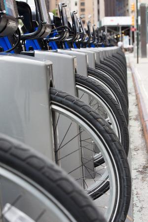 Bikes for rental, New York city