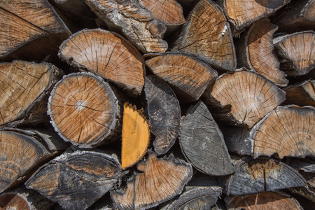 chopped fire wood stack