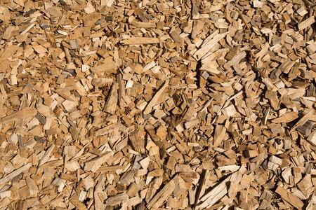 Wood chips closeup